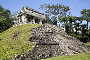 Temple of the Count, Palenque Archaeological Park, UNESCO World Heritage Site, Palenque, Chiapas, Mexico, North America