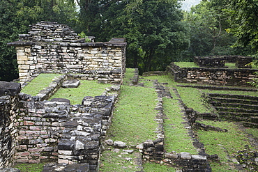 The Small Acropolis (West Acropolis), Mayan Archaeological Site, Yaxchilan, Chiapas, Mexico, North America