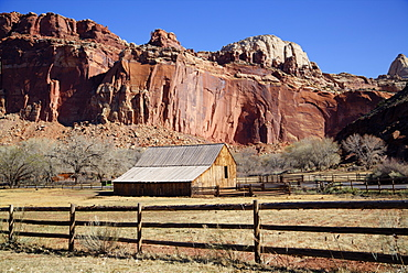 Historic Gifford Homestead Barn dating from 1908, Capitol Reef National Park, Utah, United States of America, North America