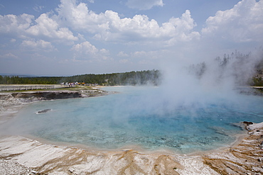 Excelsior Geyser Crater, Midway Geyser Basin, Yellowstone National Park, UNESCO World Heritage Site, Wyoming, United States of America, North America