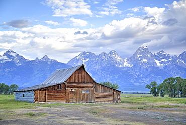 T. A. Moulton Homestead, barn, Mormon Row, Grand Teton National Park, United States of America, North America