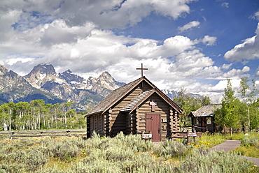 Chapel of the Transfiguration, Grand Teton National Park, Wyoming, United States of America, North America