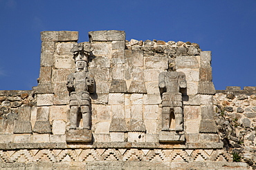 Atlantes figures, Palace of Masks, Kabah Archaelological Site, Yucatan, Mexico, North America