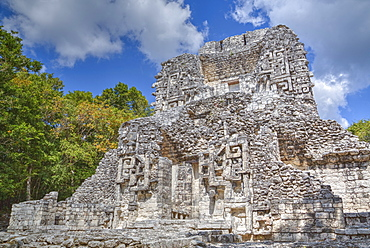 Structure XX, Chicanna, Mayan archaeological site, mixture of Chenes and Rio Bec styles, Late Classic Period, Campeche, Mexico, North America
