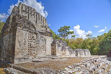Structure VI, Chicanna, Mayan archaeological site, Late Classic Period, Campeche, Mexico, North America