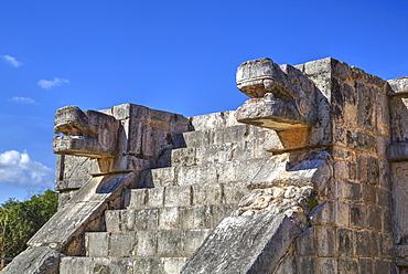Platform of the Eagles and Jaguars, Chichen Itza, UNESCO World Heritage Site, Yucatan, Mexico, North America