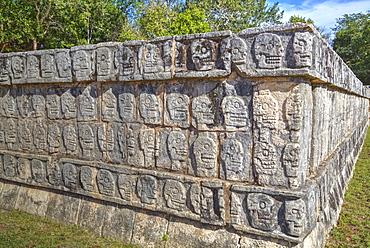 Platform of Skulls, Chichen Itza, UNESCO World Heritage Site, Yucatan, Mexico, North America