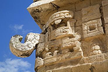 Chac Rain God mask, The Church (La Iglesia), Chichen Itza, UNESCO World Heritage Site, Yucatan, Mexico, North America