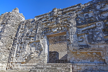 Monster Mouth Doorway, Hormiguero, Mayan archaeological site, Rio Bec style, Campeche, Mexico, North America