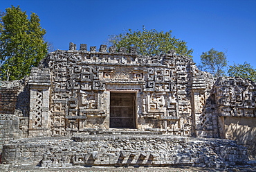 Monster Mouth Doorway, Structure II, Hochob, Mayan archaeological site, Chenes style, Campeche, Mexico, North America