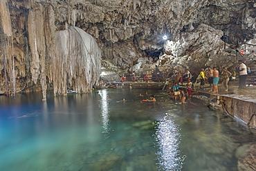 Cenote Dzitnup, near Valladolid, Yucatan, Mexico, North America