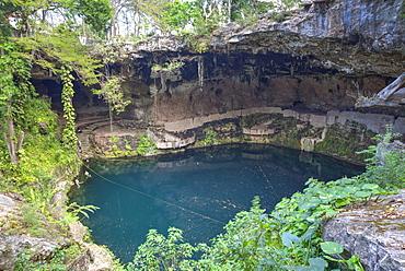 Cenote Zaci, Valladolid, Yucatan, Mexico, North America