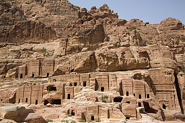 Tombs in the Wadi Musa Area, dating from between 50 BC and 50 AD, Petra, UNESCO World Heritage Site, Jordan, Middle East