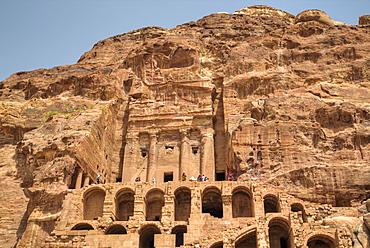 Urn Tomb, Royal Tombs, Petra, UNESCO World Heritage Site, Jordan, Middle East