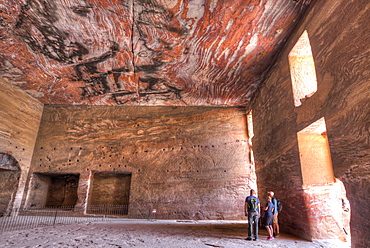 Inside the Urn Tomb, Royal Tombs, Petra, UNESCO World Heritage Site, Jordan, Middle East