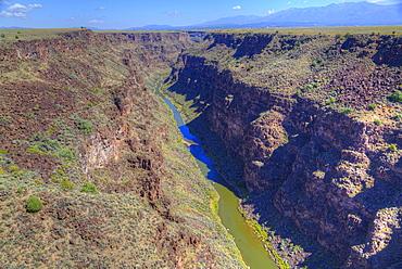Rio Grande Gorge, taken from Rio Grande Gorge Bridge, near Taos, New Mexico, United States of America, North America