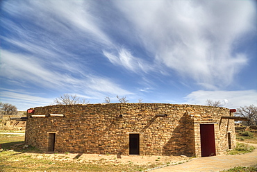 The Great Kiva, Aztec Ruins National Monument, UNESCO World Heritage Site, New Mexico, United States of America, North America