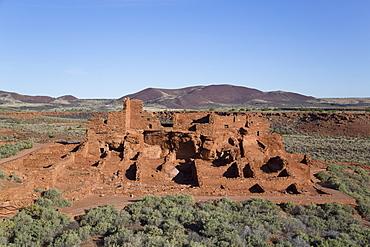 Wupatki Pueblo, inhabited from approximately 1100 AD to 1250 AD, Wupatki National Monument, Arizona, United States of America, North America