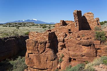Lomaki Pueblo, inhabited from approximately 1100 AD to 1250 AD, Wupatki National Monument, Arizona, United States of America, North America