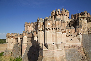 Castle of Coca, built 15th century, Coca, Segovia, Castile y Leon, Spain, Europe