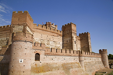 Castle of La Mota, built 12th century, Medina del Campo, Valladolid, Castile y Leon, Spain, Europe
