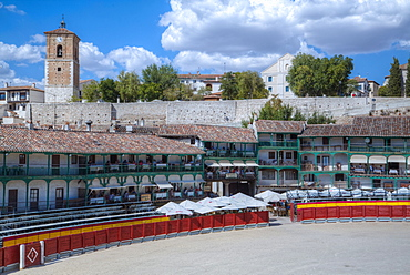 Plaza Mayor with converted Bullring, Chinchon, Spain, Europe
