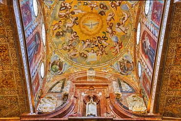 Wall and ceiling murals, Capilla de Nuestra Senora de la Concepcion, The Great Mosque (Mesquita) and Cathedral of Cordoba, UNESCO World Heritage Site, Cordoba, Andalucia, Spain, Europe
