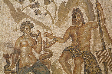 Mosaic of Polifemo and Galatea, Alacazar de los Reyes Cristianos, Cordoba, Andalucia, Spain, Europe