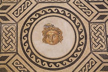 Mosaic of Medusa, Alacazar de los Reyes Cristianos, Cordoba, Andalucia, Spain, Europe