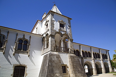 Chapter House, entrance to the public gardens, Evora, UNESCO World Heritage Site, Portugal, Europe