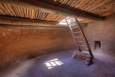 Pueblo Kiva, Pecos National Historical Park, Pecos, New Mexico, United States of America, North America