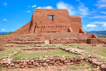 Ruins of the Mission Nuestra Senora de Los Angeles de Porciuncula de los Pecos, 17th century, Pecos, New Mexico, United States of America, North America