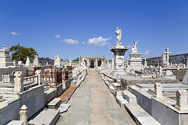 La Reina Cemetery, Cienfuegos City, UNESCO World Heritage Site, Cienfuegos, Cuba, West Indies, Central America