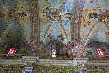 Ceiling Murals, Iglesia de Nuestra Senora de la Merced, La Habana Vieja, UNESCO World Heritage Site, Havana, Cuba, West Indies, Central America