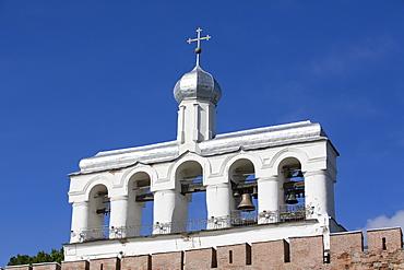 Bell Tower of St. Sophia Cathedral, Kremlin, UNESCO World Heritage Site, Veliky Novgorod, Novgorod Oblast, Russia, Europe
