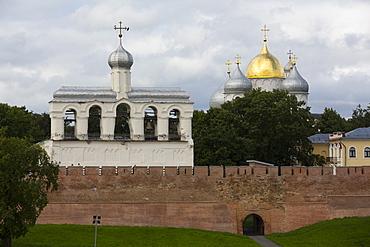 St. Sophia Cathedral and Bell Tower, Kremlin, UNESCO World Heritage Site, Veliky Novgorod, Novgorod Oblast, Russia, Europe