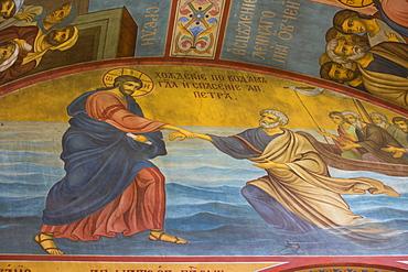 Fresco paintings, St. Sophia Cathedral, Kremlin, UNESCO World Heritage Site, Veliky Novgorod, Novgorod Oblast, Russia, Europe