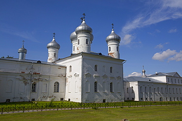 Saviour Cathedral, Yuriev Monastery, UNESCO World Heritage Site, Veliky Novgorod, Novgorod Oblast, Russia, Europe