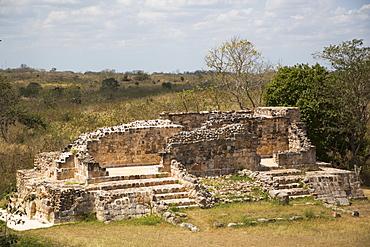 Mayan Ruins, Oxkintok Archaeological Zone, 300 to1050 AD, Yucatan, Mexico, North America