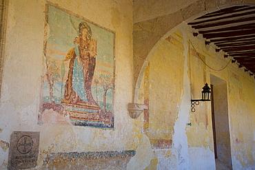 Late 16th century mural, Convent of San Antonio de Padua, completed 1561, Izamal, Yucatan, Mexico, North America
