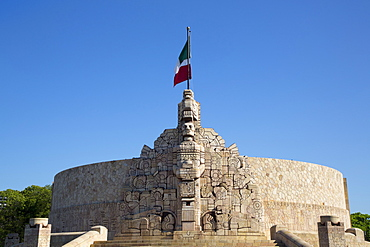 Monument to the Patria (Homeland), sculpted by Romulo Rozo, Merida, Yucatan, Mexico, North America