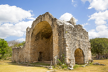 Open Chapel (Capilla), constructed between 1590 and 1600, Dzibilchaltun Archaeological Site, near Merida, Yucatan, Mexico, North America