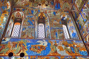 Frescoes, St. John the Theologian's Gate Church, Kremlin, Rostov Veliky, Golden Ring, Yaroslavl Oblast, Russia, Europe