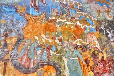 Frescoes, Miracle Image of the Saviour Church, Kremlin, Rostov Veliky, Golden Ring, Yaroslavl, Russia, Europe