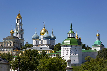 Overview, The Holy Trinity Saint Sergius Lavra, UNESCO World Heritage Site, Sergiev Posad, Russia, Europe