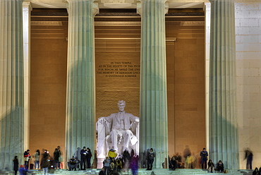 Evening, Lincoln Memorial, Washington D.C., United States of America, North America
