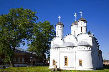 Disposition of the Robe (Rizopolozhensky) Convent dating from the 13th century, UNESCO World Heritage Site, Suzdal, Vladimir Oblast, Russia, Europe