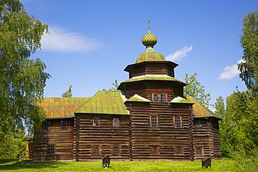 Church of Elijah the Prophet, Museum of Wooden Architecture, Kostroma, Kostroma Oblast, Russia, Europe