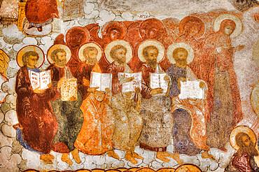Frescoes, Saviour Church on the City, UNESCO Site, Yaroslavl, Golden Ring, Yaroslavl Oblast, Russia