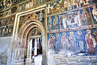 Frescoes, St. John The New Monastery, 1514, UNESCO World Heritage Site, Suceava, Suceava County, Romania, Europe